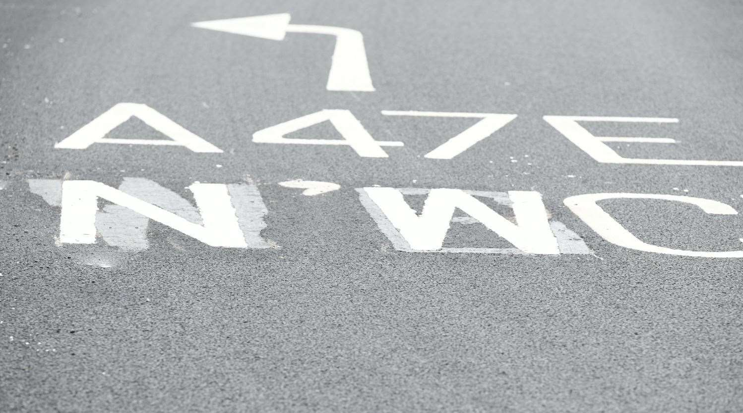 New markings have been painted over where the erroneous direction was laid (50339230)