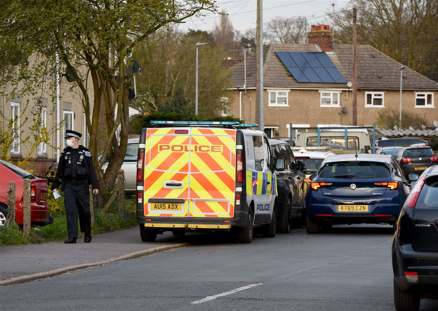 Police in attendance after a Road Traffic Incident in King's Lynn..Police officer in Bagge Road Gaywood. (45943184)